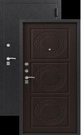 ЗЕВС, Z-4, ВЕНГЕ ШЕЛК металлическая входная дверь