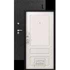 Зевс Lux-6 (Z-6) Центурион черный шелк-софт белый металлическая входная дверь