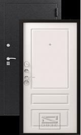 Зевс Z-6 Центурион черный шелк-софт белый металлическая входная дверь