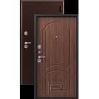 Зевс Lux-6 (Z-6) Центурион медь-орех металлическая входная дверь