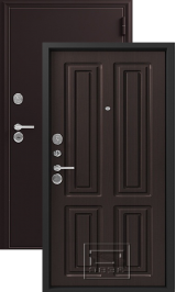 Зевс Z-6 Центурион шелк бордо-венге шелк металлическая входная дверь