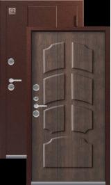 Зевс Т-4 Центурион медь-тиковое дерево Двойной Терморазрыв металлические входная дверь