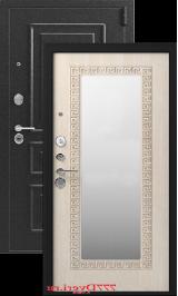 Легион L-1, серебро-седой дуб зеркало металлическая входная дверь