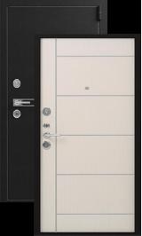 Легион L3-1, черный блеск-молдинг лен металлическая входная дверь