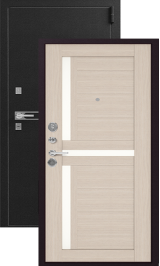 Легион L-3, черный блеск-капучино металлическая входная дверь