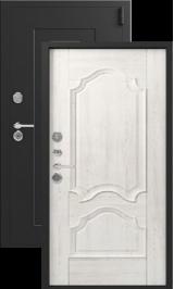 Легион L-6, черный шелк-монблан, шпон металлическая входная дверь