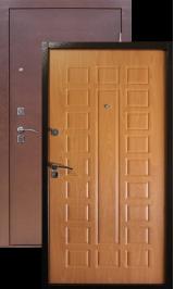 Зевс S-2,  Медь - миланский орех металлическая входная дверь