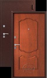 Сибирь  S-1/1, Медь-Итальянский орех металлическая входная дверь
