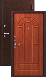 ЗЕВС Z-4, МЕДЬ- ИТАЛЬЯНСКИЙ ОРЕХ металлическая входная дверь