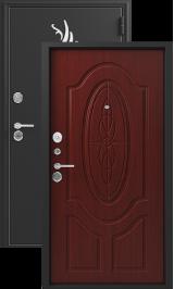 Зевс Z-7, черный шелк-махагон, металлическая входная дверь