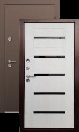 Termo S2 Антик медь/беленый дуб металлическая входная дверь