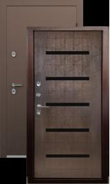 Termo S3 Антик медь/беленый дуб металлическая входная дверь