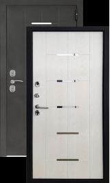 Termo S4 Черный шёлк/беленый дуб металлическая входная дверь