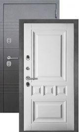 Termo S5 Антик серебро/белое дерево металлическая входная дверь