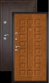 Квадро антик медь/дуб золотой входная дверь
